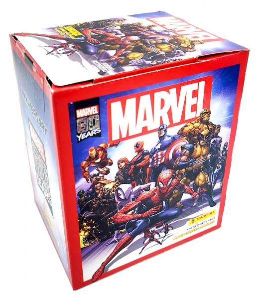 80 Jahre Marvel Sammelkollektion - Sticker- und Cards - Box mit 36 Tüten