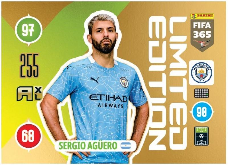 Panini FIFA 365 Adrenalyn XL 2010 - Limited Edition Card Sergio Aguero