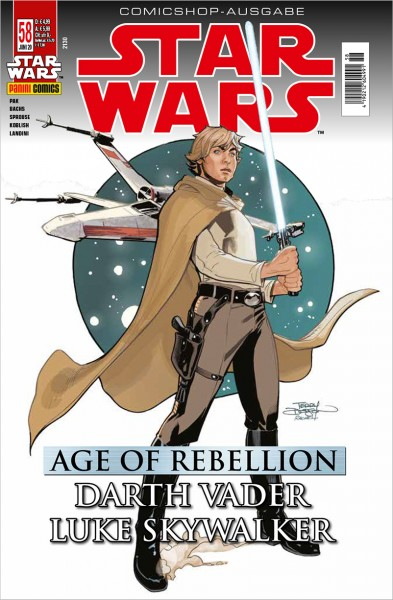 Star Wars 58: Age of Rebellion - Darth Vader & Luke Skywalker - Comicshop Ausgabe Cover