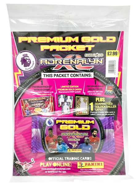 Panini Premier League Adrenalyn XL 2019/20 Kollektion – Premium Gold-Pack