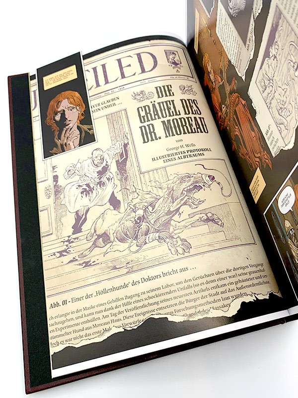 Die Insel des Dr. Moreau Blick in den Comic