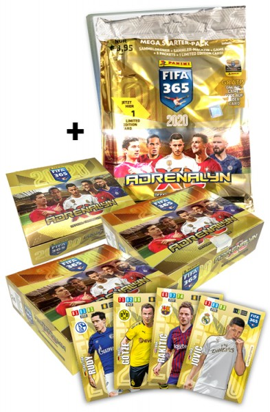 Panini FIFA 365 Adrenalyn XL 2020 Kollektion – Mega Bundle Spezial