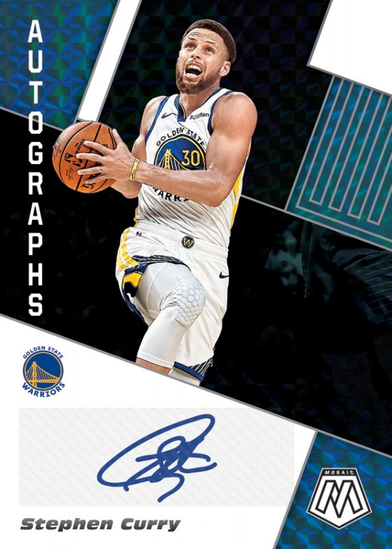 NBA Basketball Mosaic Trading Cards 2019/20 - Stephen Curry
