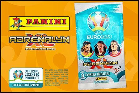 Diie ersten Produkte der Kollektion zur UEFA EURO 2020 Adrenalyn XL