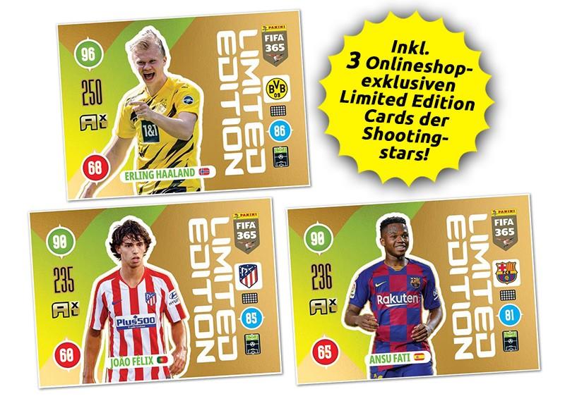 Panini FIFA 365 Adrenalyn XL 2021 - Limited Edition Cards Haaland / Felix / Fati
