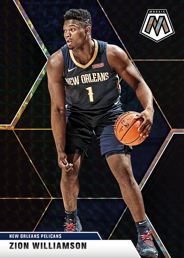 NBA Mosaic Trading Cards - Zion Williamson