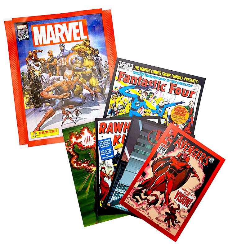 80 Jahre Marvel Sticker und Cards Tüte Beispiel