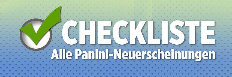 Checkliste - Alle Panini-Neuerscheinungen