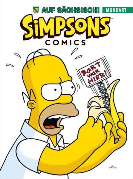 Simpsons Comics auf Sächsisch Cover