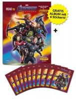 Road to Avengers Endgame - Sticker und Trading Cards - Schnupperbundle