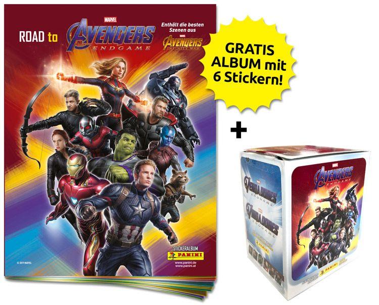 Road to Avengers Endgame - Sticker und Trading Cards - Sticker-Starter-Bundle