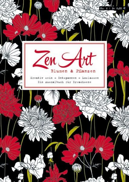 Zen Art 2: Blumen & Pflanzen - Ein Ausmalbuch für Erwachsene