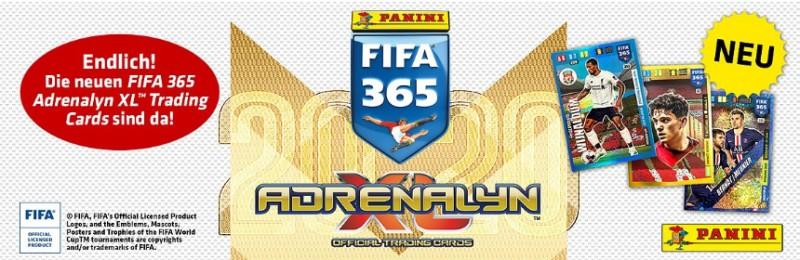 Panini Fifa 365 Adrenalyn XL Trading Cards zum Sammeln