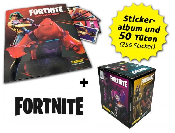 Fortnite Reloaded - Black Frame Series - Sticker - Box-Bundle Inhalt