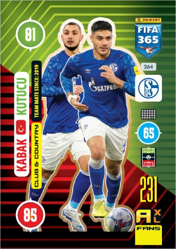 Abbildung von Club & Country Card Kutucu, Kabak der FIFA 365 Adrenalyn XL 2021