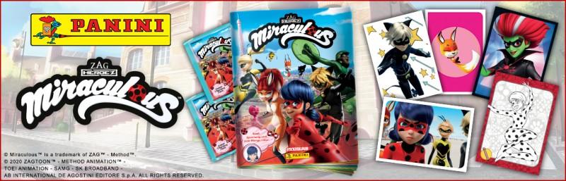 Miraculous Sticker und Trading Cards Banner Kollektion