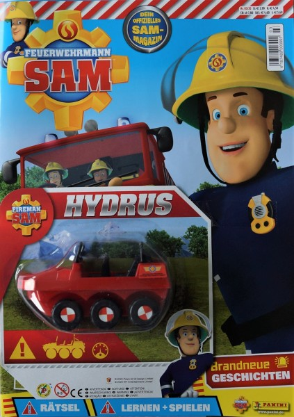 Feuerwehrmann Sam Magazin 03/20 Cover und Extra