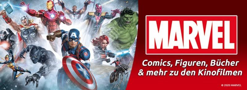Marvel – Comics, Figuren und Bücher zu den Kinofilmen entdecken!