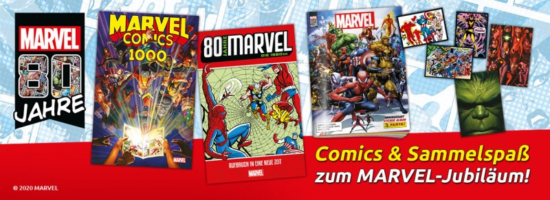 80 Jahre Marvel: Comics und Sammelspaß zum Marvel-Jubiläum