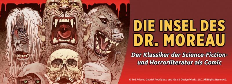 Die Insel des Dr. Moreau – Der Klassiker der Science-Fiction und Horrorliteratur als Comic
