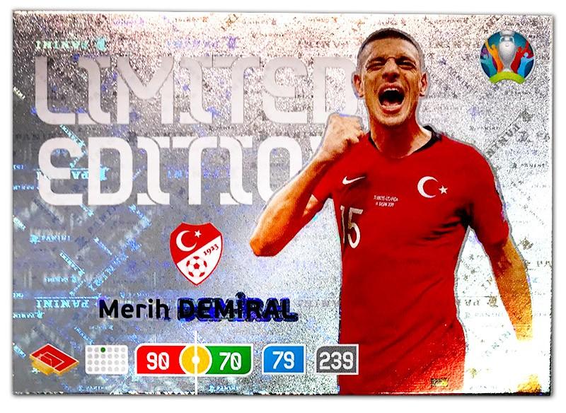 Abbildung der Euro 2020 Limited Edition Card von Merih Demiral