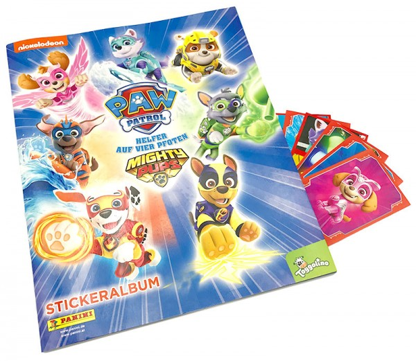 Paw Patrol Mighty Pups Sticker Album Cover