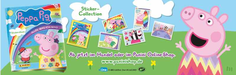 Peppa Pig Stickerkollektion Banner