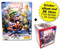 80 Jahre Marvel Sammelkollektion - Sticker und Cards - Box-Bundle