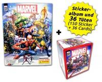 80 Jahre Marvel Sammelkollektion - Sticker und Cards - Box-Bundle