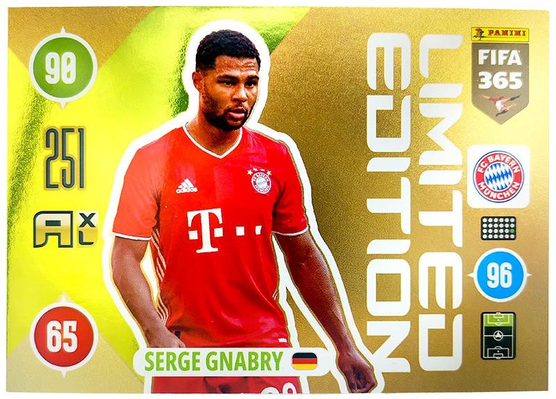 Panini FIFA 365 Adrenalyn XL 2021 - Limited Edition Card Serge Gnabry