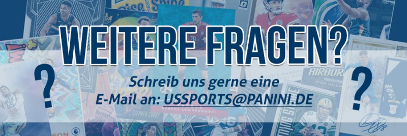 Panini US Sports - Trading Card Facts - Weitere Fragen E-Mail