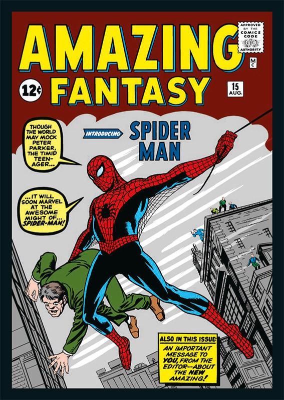 80 Jahre Marvel Sticker und Cards Beispiel Sticker Spider-Man Cover