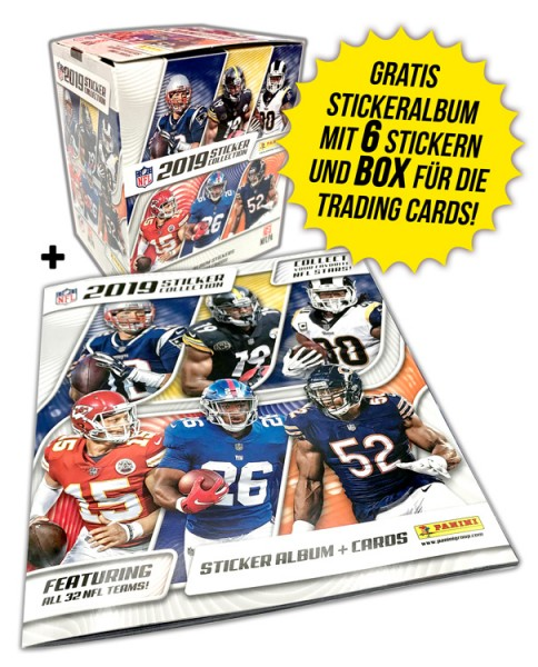 NFL 2019 Sticker & Trading Cards - Bundle Box und Album