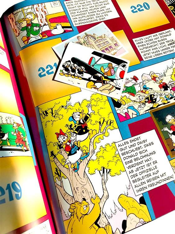 Donald Duck – Sticker und Trading Cards Blick ins Stickeralbum