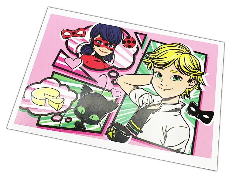 Miraculous Sticker und Trading Cards Beispiel Comicdesign