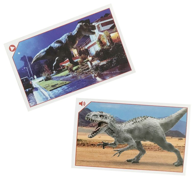 Jurassic World Anthology - Sticker & Cards - Spezialsticker Video & Audio für Collector's App