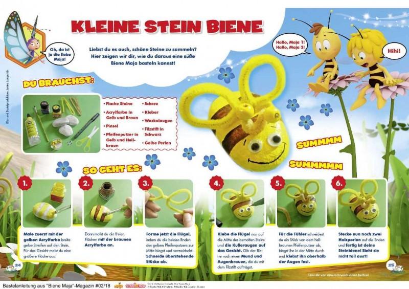 Biene Majas Steinbienen - Bastelanleitung