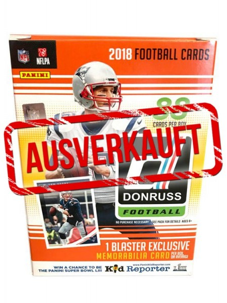 NFL 2018 DONRUSS Trading Cards - Box