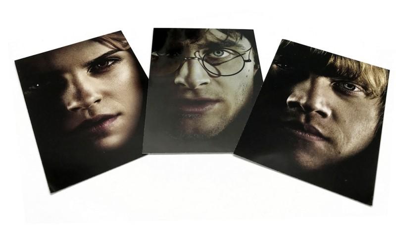 Harry Potter Sticker und Cards Harry Hermine Ron