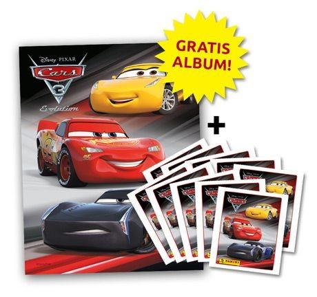 Cars Stickerkollektion - Stickeralbum und 10 Tüten