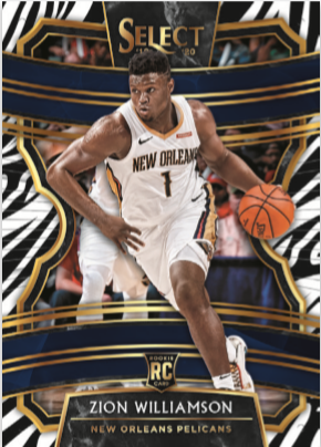 NBA Select 2019-20 Trading Cards - Hobbybox - Zion Williamson
