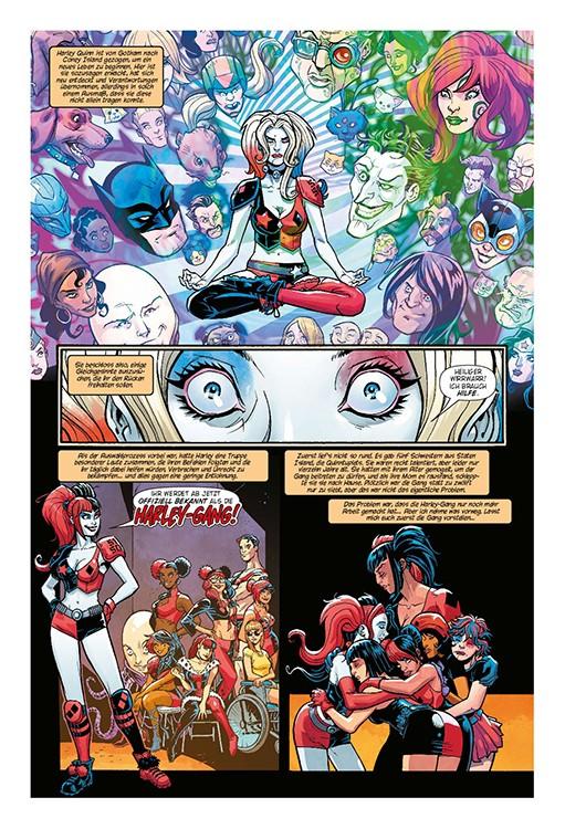 Harley Quinn und die Harley-Gang Blick in den Comic Vorschauseite