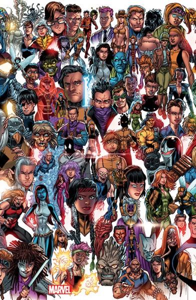X-Men 5: Ziemlich beste Feinde Panorama Variant Cover