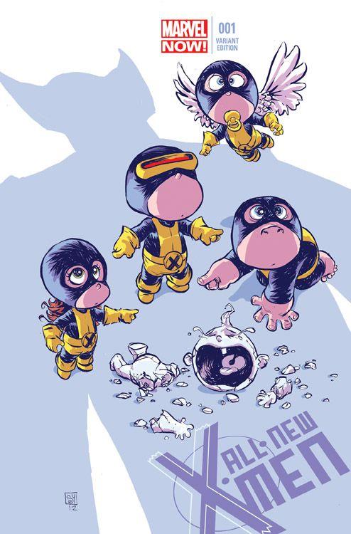 Die neuen X-Men 4 Marvel-Baby-Variant...