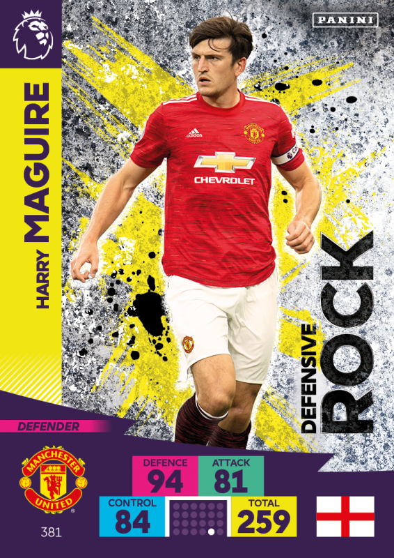 Panini Premier League Adrenalyn XL 2020/21 - Defensive Rocks - Harry Maguire