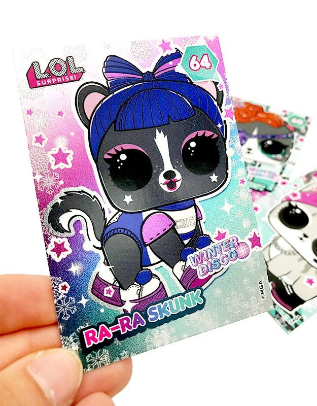 L.O.L. Surprise! Glitter 'n' Glow Cards Beispiel Effekt