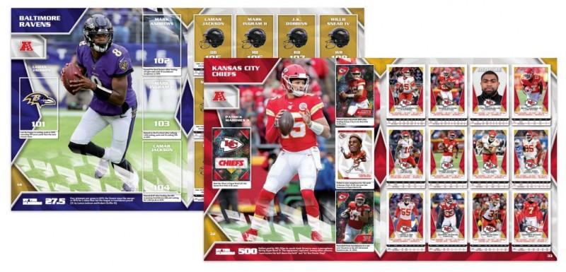 NFL - Sticker & Trading Cards Kollektion 2020 - Albumseiten
