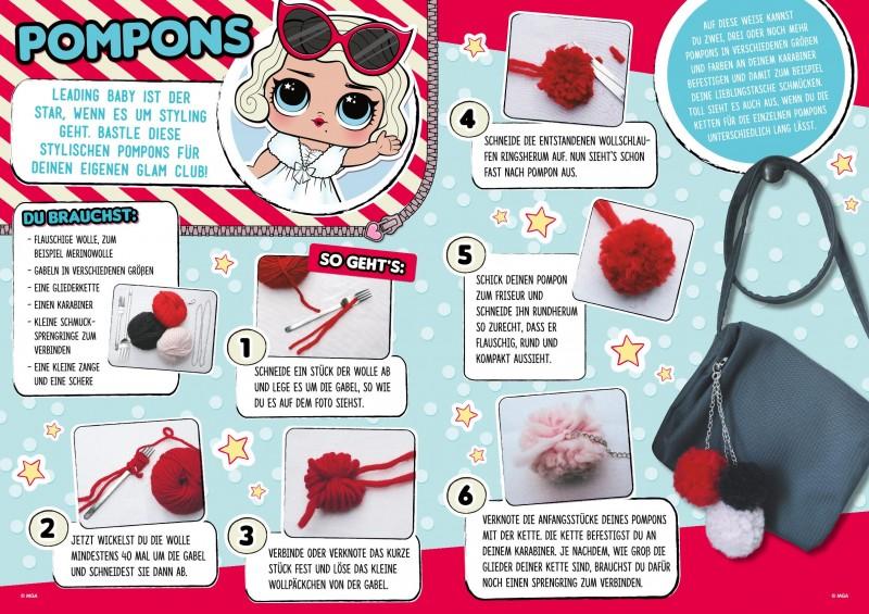 Bastelanleitung LOL Magazin 04/19 Pompons  aus Wolle