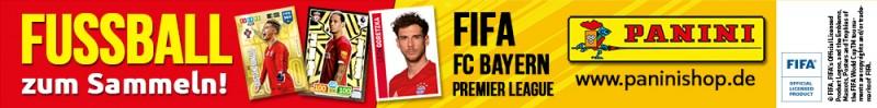 Fussball zum Sammeln! FIFA, FC Bayern, Premier League - Banner