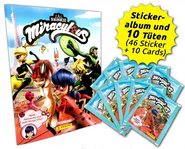 Miraculous Ladybug Sticker und Trading Cards Schnupperbundle